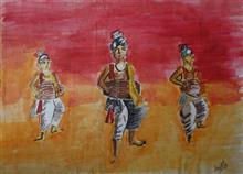 Painting  by Arpita Bhat - Folk Dancers