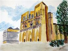Painting  by Arpita Bhat - Medieval Edifice