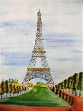 Painting  by Arpita Bhat - Eiffel Tower