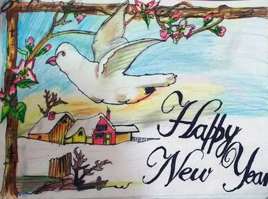 Happy New Year Drawing 85