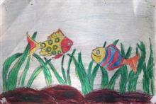 Painting  by Arnav Alok - Fishes