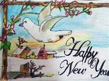 Painting  by Arnav Alok - Happy New Year