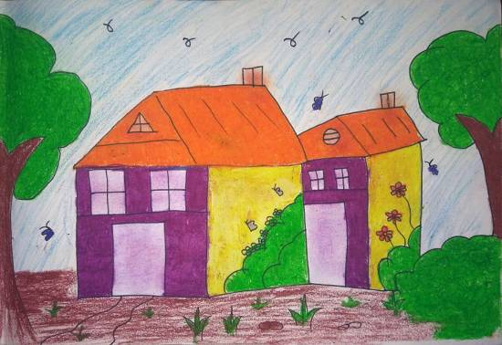 Painting  by Diksha Pradeep Mestry - Houses