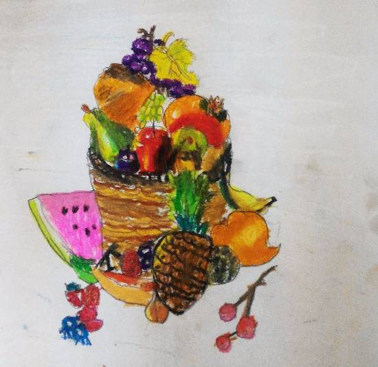painting by Indraneel Ramkrishna Naik - Fruits