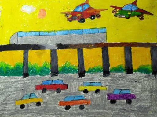 Painting  by Indraneel Ramkrishna Naik - Future transportation