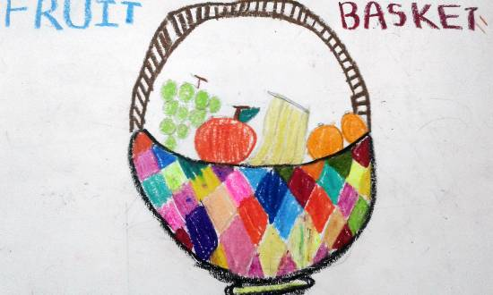 painting by Isha Bhattacharjee - Fruit basket