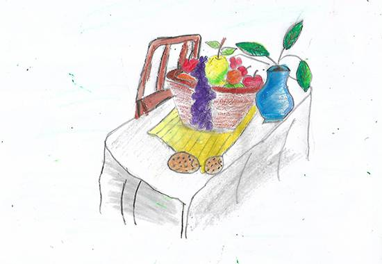 Painting  by Isha Bhattacharjee - Dining table look