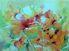 Happiness, painting by Rajani Chalasani