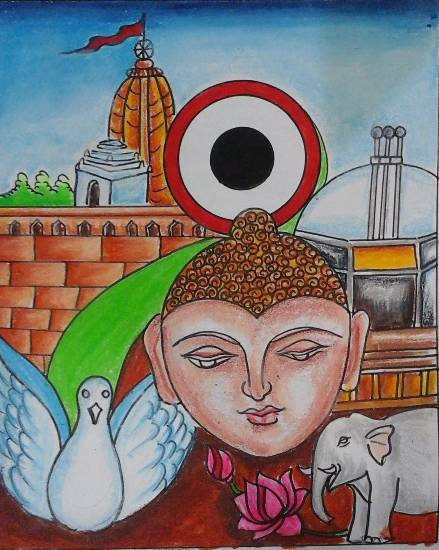 painting by Isha Purohit - Connecting India