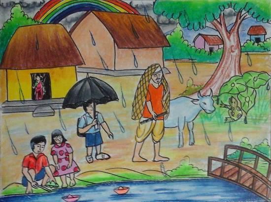 Rain Painting By Isha Purohit