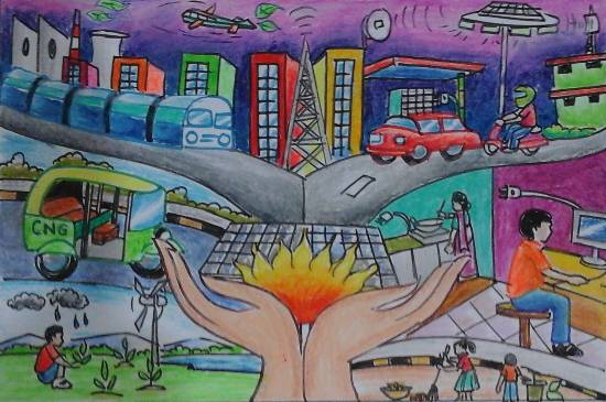 Painting  by Isha Purohit - Save Energy