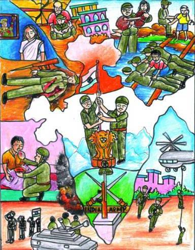 Painting  by Isha Purohit - Indian army - 1