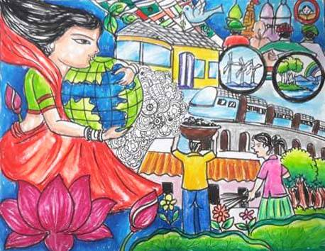 Painting  by Isha Purohit - Save the Earth