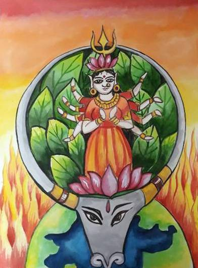 Painting  by Isha Purohit - Devi