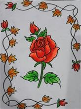 Painting  by Isha Purohit - Red Rose
