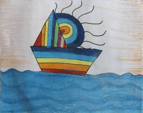 painting by Ishita Mayur Patil - Boat