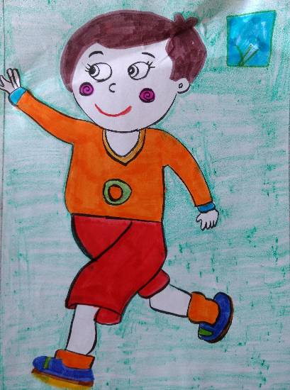 painting by Ishita Mayur Patil - Boy