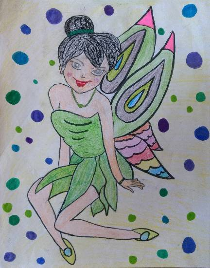 Fairy, painting by Ishita Mayur Patil