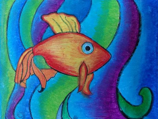 Painting  by Ishita Mayur Patil - Fish