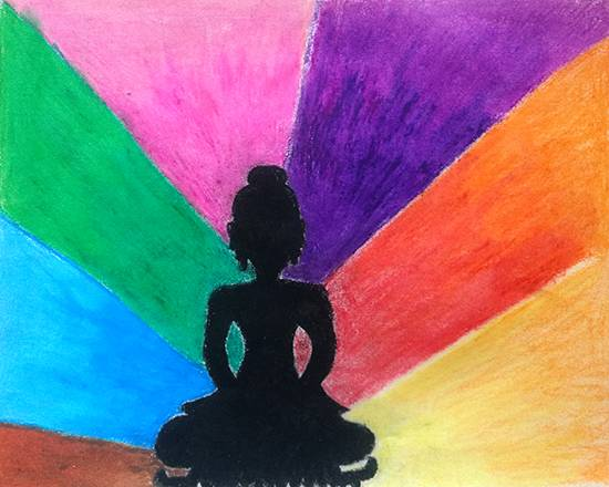 Painting  by Ishita Mayur Patil - Buddha