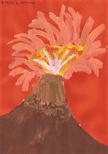 Painting  by Karthik H Unnithan - Volcano