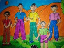 Painting  by Kunal B Paradava - Friends