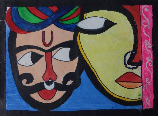 Painting  by Manya Manish Mehta - Puppet