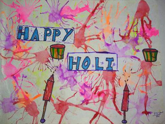 Painting  by Manya Manish Mehta - Happy Holi
