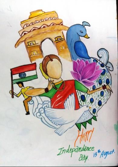 Independance Day Painting By Parinaz Hoshedar Davar