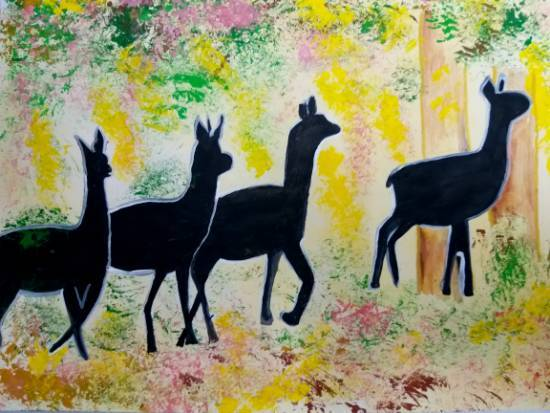 Painting  by Parinaz Hoshedar Davar - Wildlife