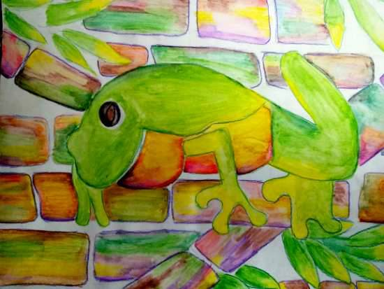 Painting  by Parinaz Hoshedar Davar - Colours of the chameleon