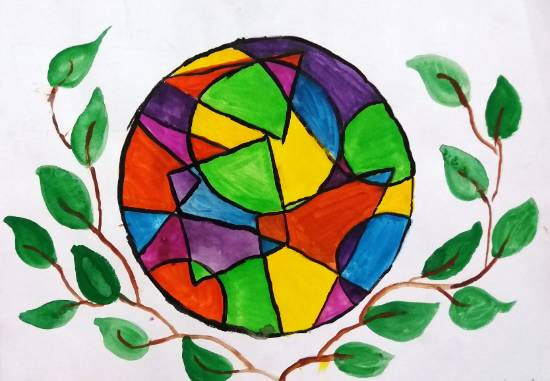 Painting  by Parinaz Hoshedar Davar - Geometric drawing