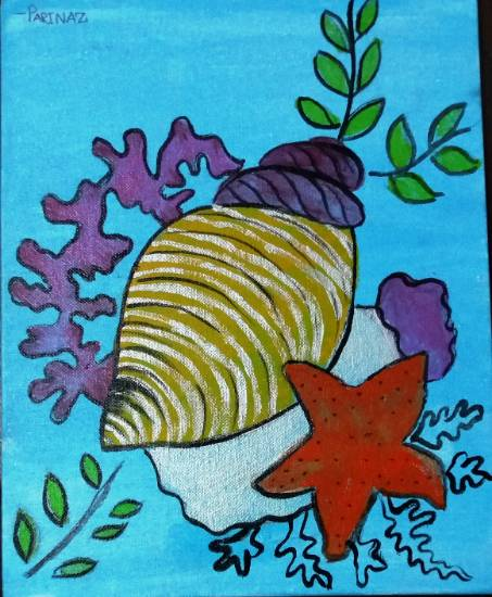 Painting  by Parinaz Hoshedar Davar - Aquatic life