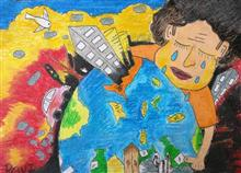 Painting  by Ravi Kumar - Save Earth