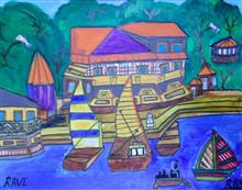 Painting  by Ravi Kumar - Boats