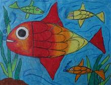 Painting  by Rohit D Sahani - Fishes