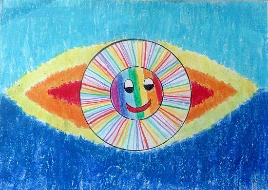 Sun, painting by Thiyakshwa Sureshkumar
