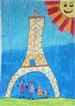 painting by Thiyakshwa Sureshkumar - Paris