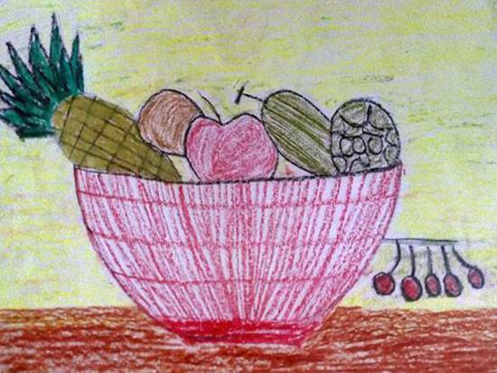Painting  by Shaunak Vaibhav Dantale - Fruit Basket