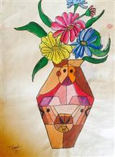 Painting  by Suhani Bhattacharyya - Flower pot