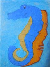 Painting  by Tanmay Ashutosh Deshpande - Sea horse