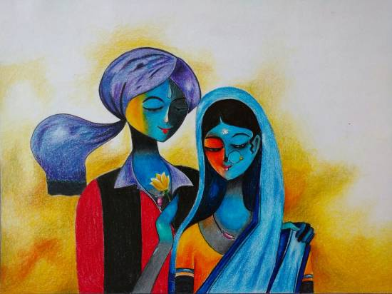 Painting  by Vaishnavee Kailas Puntambekar - Couple