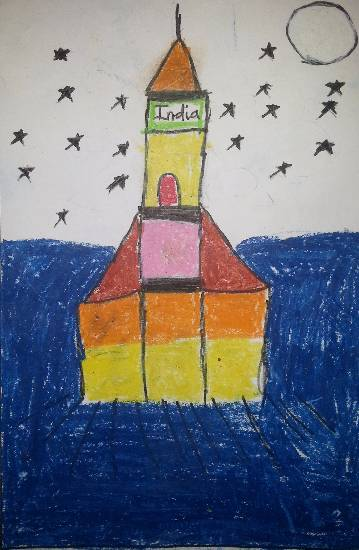 Painting  by Vedant Ashish Deodhar - Rocket