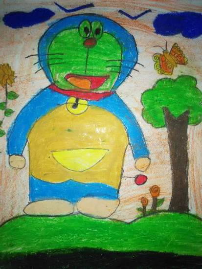 painting by Yug Soni - Doraemon