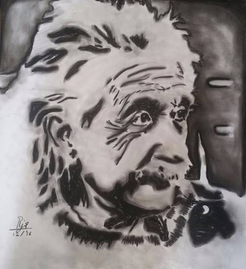 Albert Einstein, painting by Rujuta Neerav Upadhyay