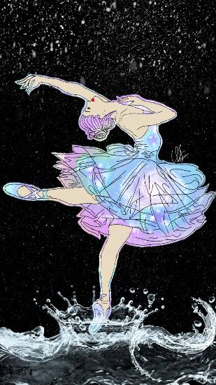Galaxy girl - Ballerina, painting by Uma Maharana