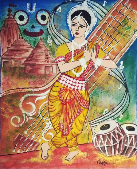 Painting  by Uma Maharana - Culture - Odishi Dance Form