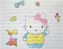 Painting  by Tithi Mukhopadhyay - Hello Kitty