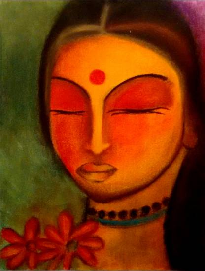 Painting  by Nidhi Pradeep Savla - Beautiful lady