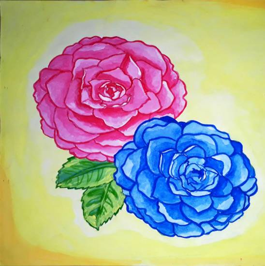 painting by Sobana Nagarajan - Flowers
